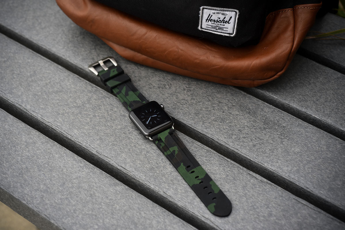 Forrest Green Camo Apple Watch Strap