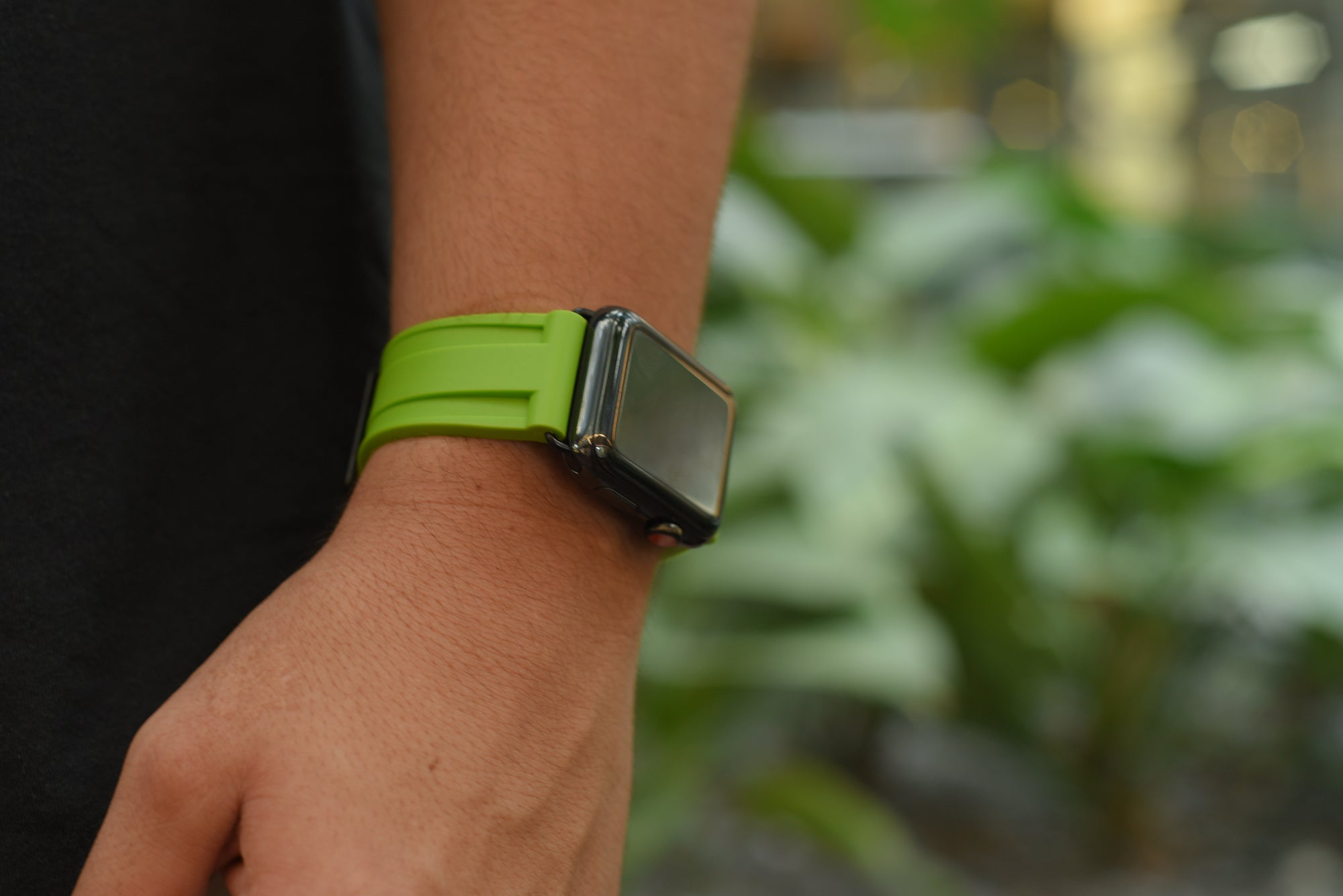 Electric Green Rubber Apple Watch Strap