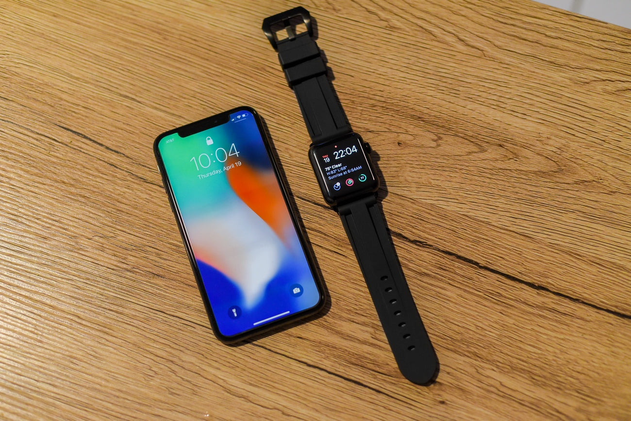 Black Rubber Apple Watch Strap
