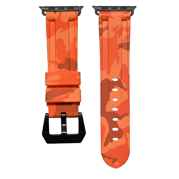 Sunset Orange Camo Apple Watch Strap
