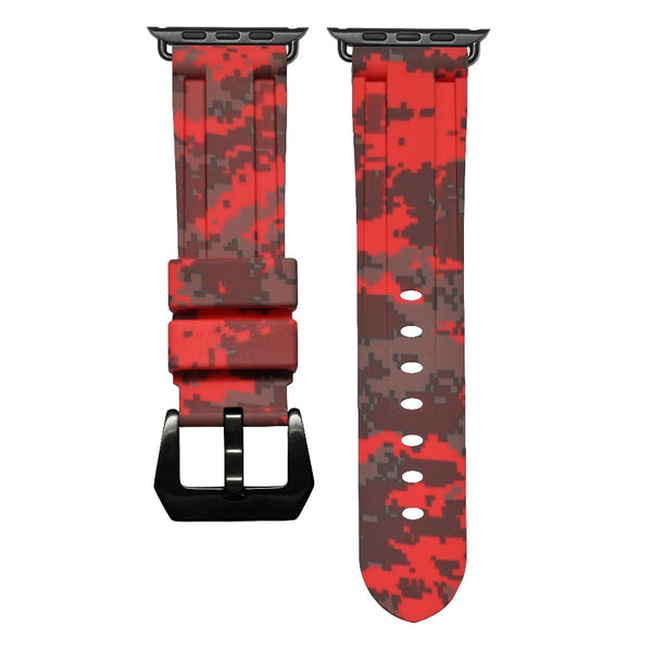 Red Digital Camo Apple Watch Strap
