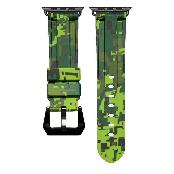 Green Digital Camo Apple Watch Strap