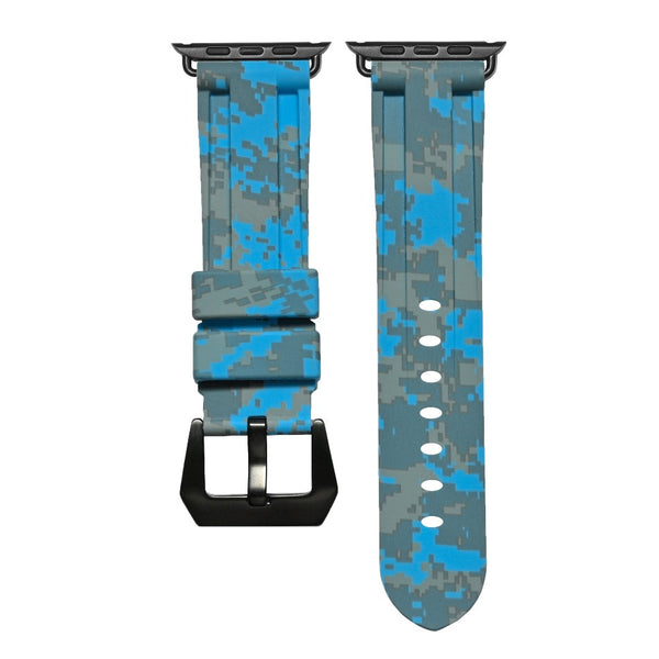 Miami Blue Digital Camo Apple Watch Strap
