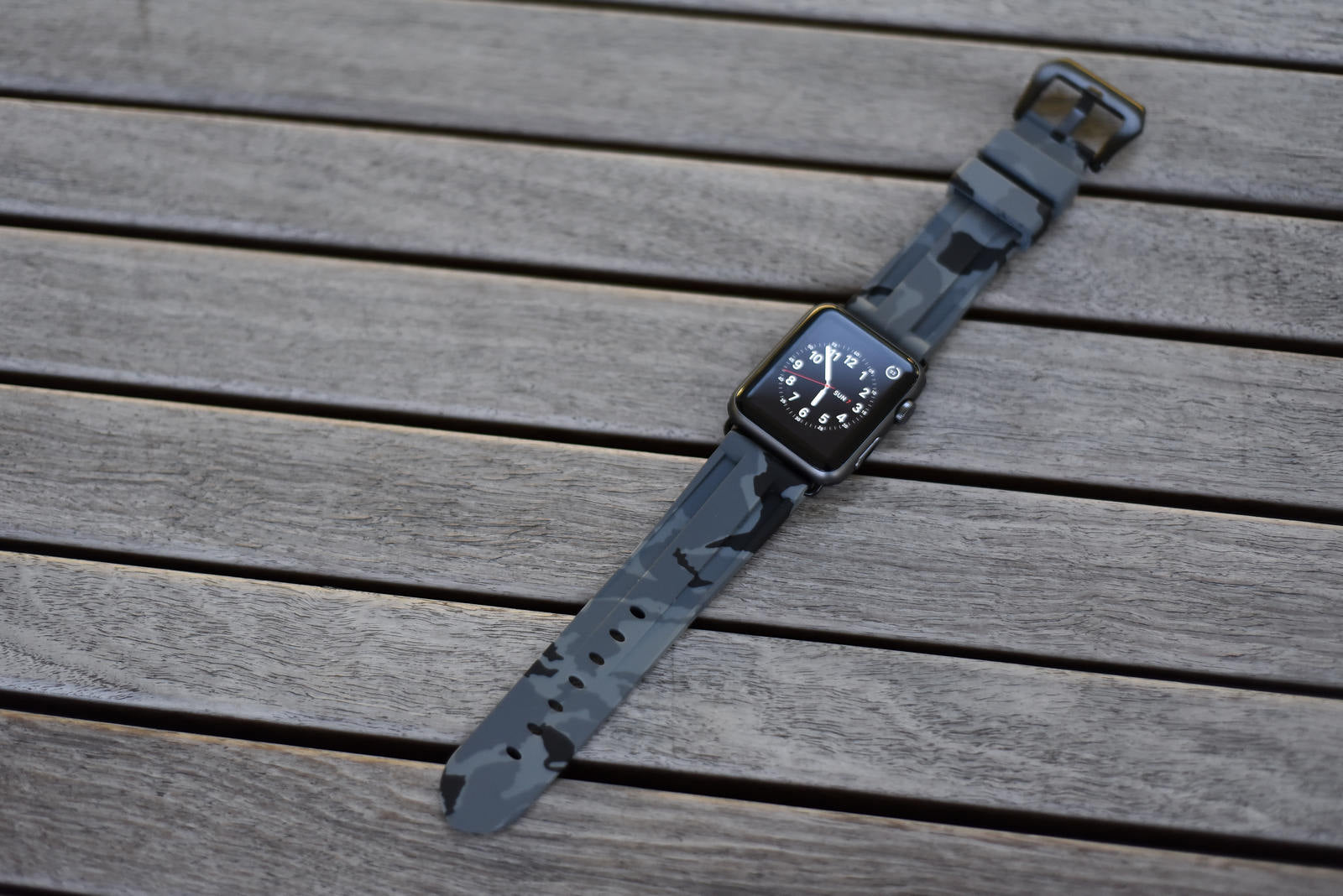 Grey Camo Apple Watch Strap