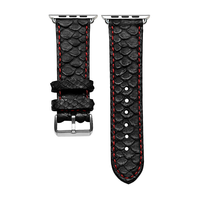 Black Python Apple Watch Strap
