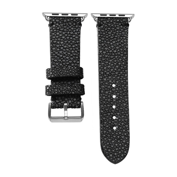 Black Stingray Apple Watch Strap