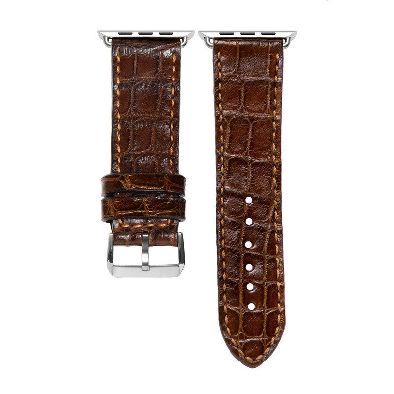 Brown Crocodile Apple Watch Strap