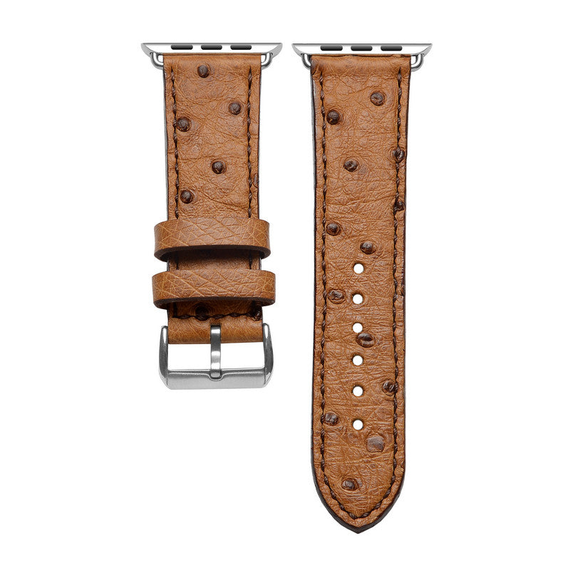 Brown Ostrich Apple Watch Strap