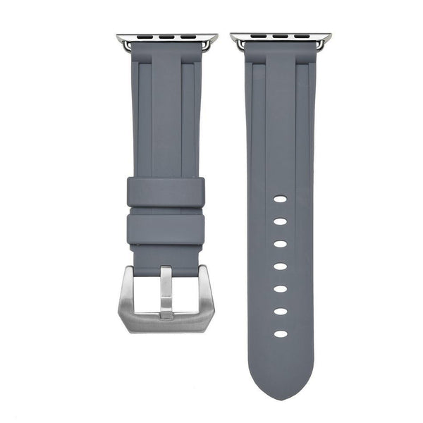 Grey Rubber Apple Watch Strap