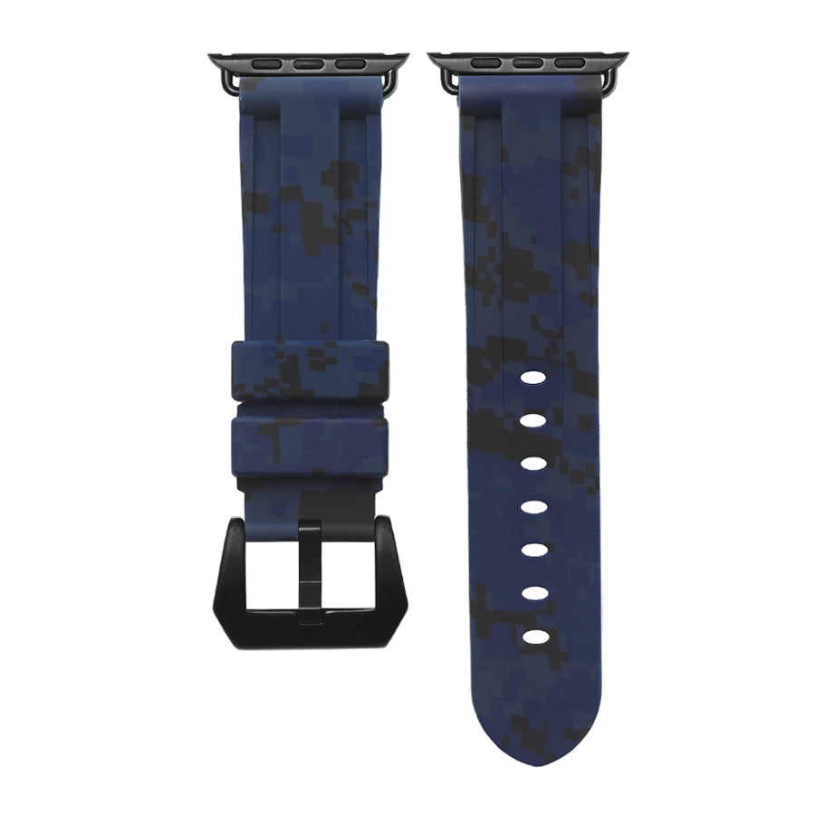 Digital Navy Camo Apple Watch Strap
