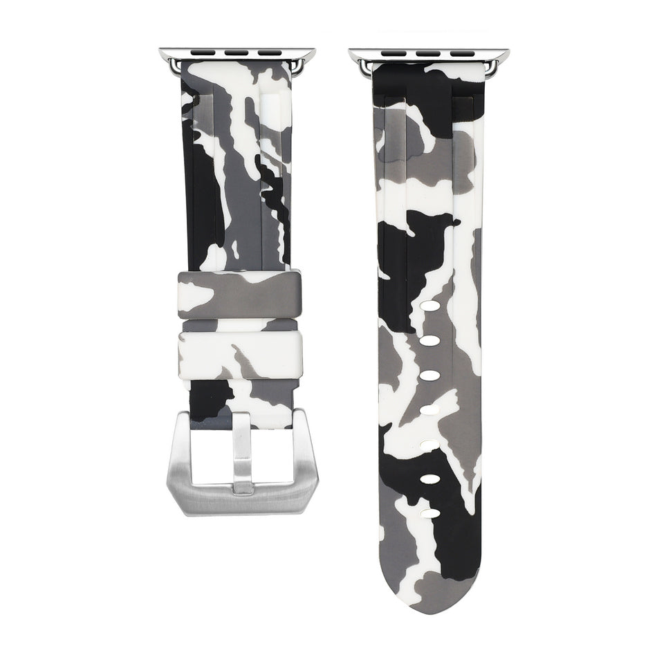 White Snow Camo Apple Watch Strap