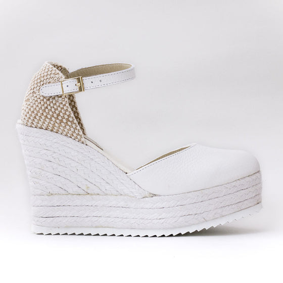 Cuñas Piel Blanco - Sp4in.com Spanish Products Omnichannel Marketplace  Women Shoes