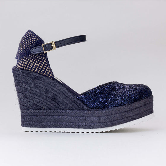 Cuñas Glitter Azul - Sp4in.com Spanish Products Omnichannel Marketplace  Women Shoes