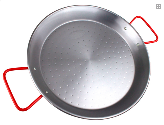 """Carbon Steel Paella Pan 8"" - Tasting - Sp4in.com Spanish Products Omnichannel Marketplace  Paella Pans"