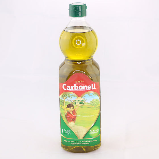 Aceite de Oliva Virgen Extra Carbonell 1 Litro - Imported by World of Spain - 4qui.com Mercado Global en Español  Grocery