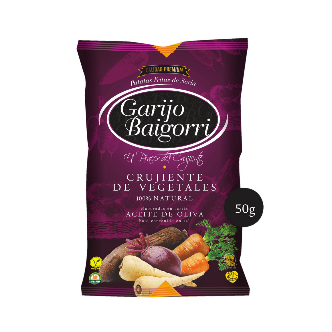 Crujientes de Vegetales 50 g , pack de 5 Unidades - Sp4in.com Spanish Products Omnichannel Marketplace
