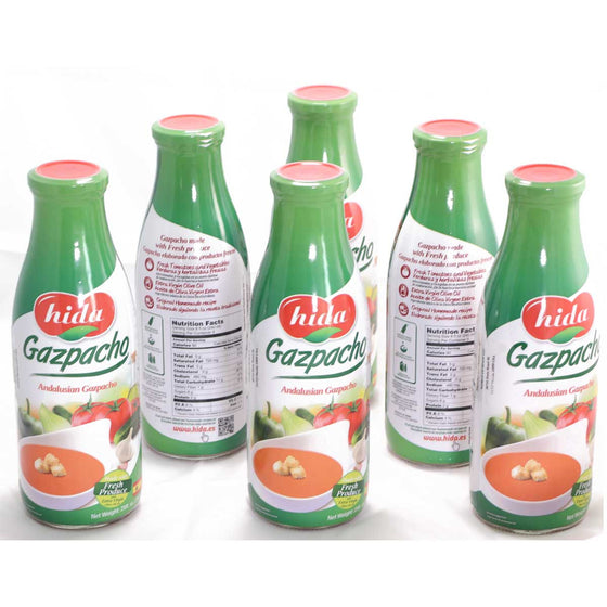 Pack 6 Bottles of Andalusian Gazpacho 750 gr. - Sp4in.com Spanish Food and Products Marketplace  Gazpacho