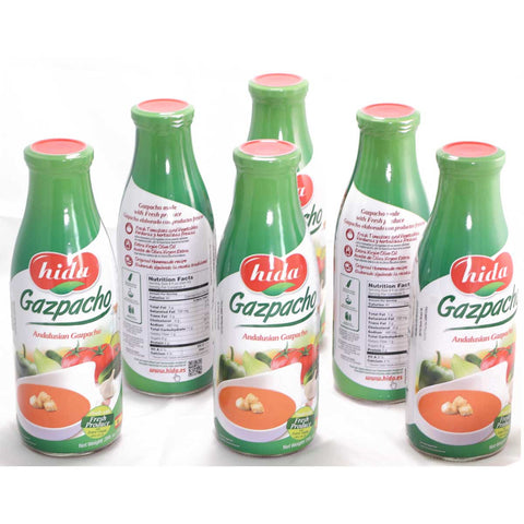 Pack 6 Bottles of Andalusian Gazpacho 750 gr. - Sp4in.com Products that Real Spanish People Buy . Online Shopping , Products from Spain  Gazpacho