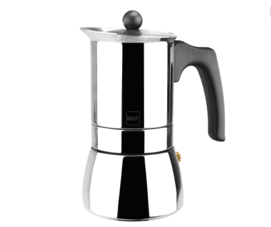 """Genova 6 Cups ""  Stainless steel Coffee Maker - Sp4in.com Spanish Products Omnichannel Marketplace  Coffee Makers"