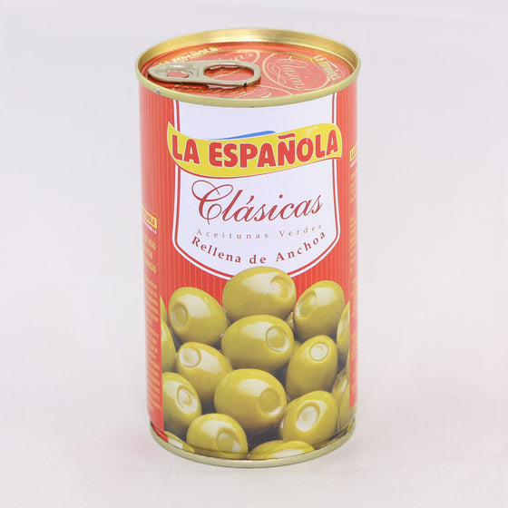 "Aceitunas rellenas de anchoa ""La Española"" 350g - Sp4in.com Spanish Products Omnichannel Marketplace  Grocery"