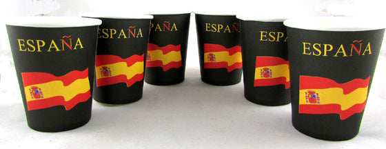 6 Vasos Bandera España - Sp4in.com Spanish Products Omnichannel Marketplace