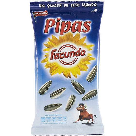 6 Packages of Pipas Salados Sunflower Seeds by Facundo - Sp4in.com Spanish Products Omnichannel Marketplace  Grocery
