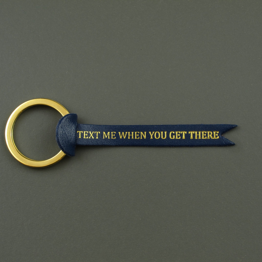 Text me key fob Navy blue