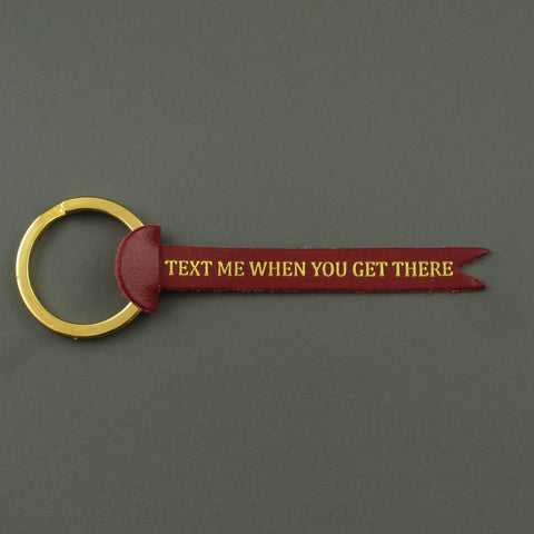 Text me key fob Red