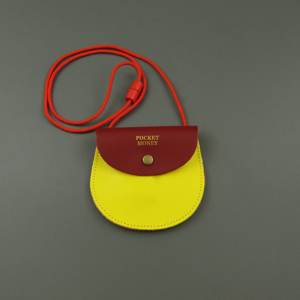 Pocket money purse Red and Yellow