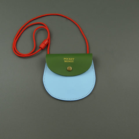 Pocket money purse Green and blue