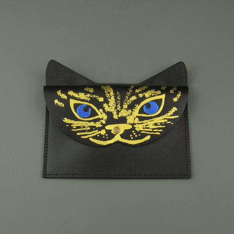 Leather cat purse