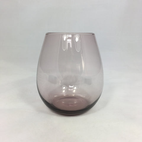 Purple glass ball tumbler