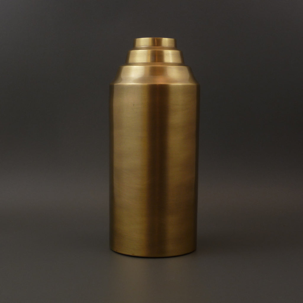 Pyram Brass effect Vase