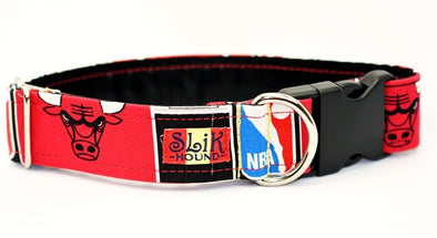 Chicago Bulls Themed Pop Fashion Dog Collar - SLiK Hound Dog Collar - Dog Collar [shop-name] - SLiK Hound Dog Collar - quality dog collar [product-type] - best dog collar Dog Collar - long lasting dog collar