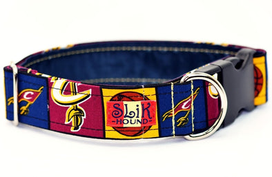 Cleveland Cavaliers Themed Pop Fashion Dog Collar - SLiK Hound Dog Collar - Dog Collar [shop-name] - SLiK Hound Dog Collar - quality dog collar [product-type] - best dog collar Dog Collar - long lasting dog collar