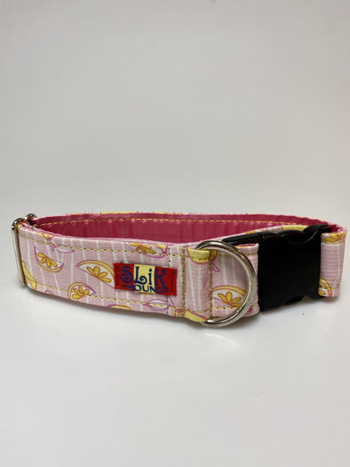 "1.5"" Wide, 13-23"" long, plastic buckle, Pink Lemonade"