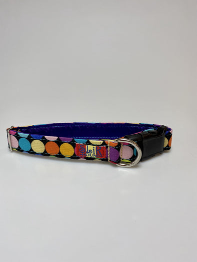 "1"" Wide, 13-23"" long, plastic buckle, Disco Dots"