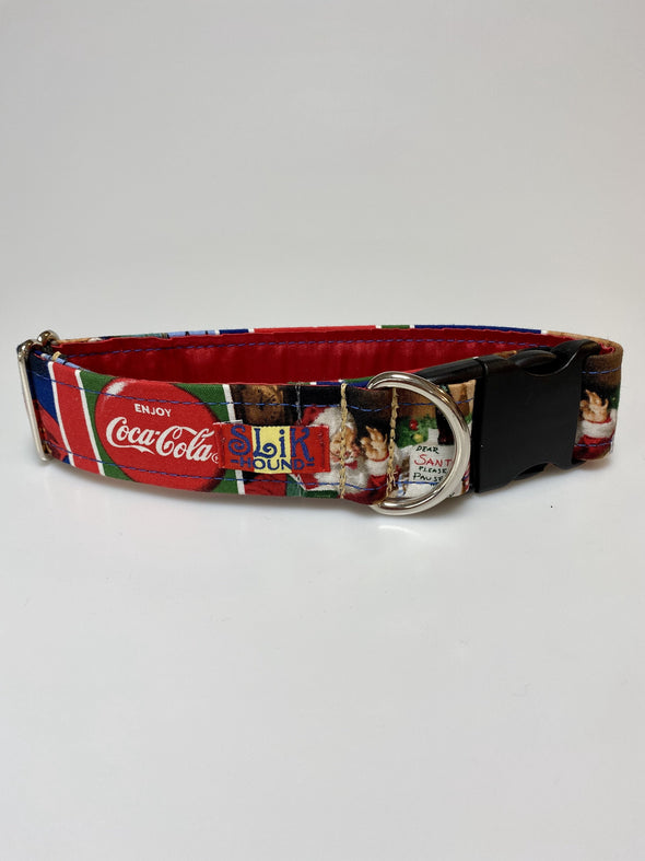 "1.5"" Wide, 13-23"" long, plastic buckle, Classic Coca Cola Christmas Themed"
