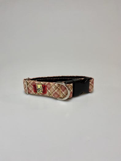 "1"" Wide, 10-16"" long, plastic buckle, Strawberry Fields Plaid"