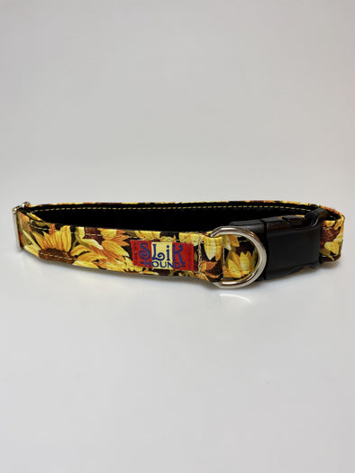 "1"" Wide, 13-23"" long, plastic buckle, Sunflowers"