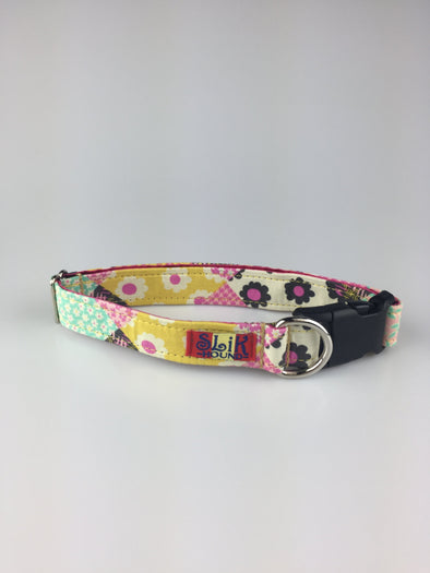 "1"" Wide, 13-23"" long, plastic buckle, May Flowers"