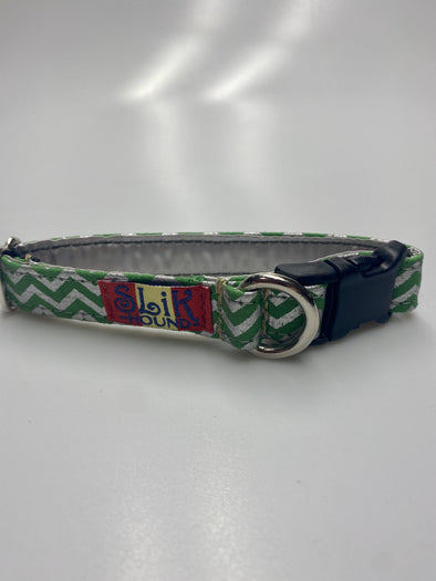 ".75"" Wide, 10-16"" long, plastic buckle, Green Lightning"