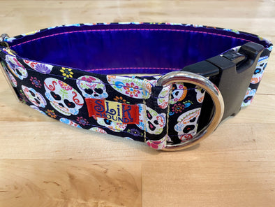 "2"" Wide, 13-23"" long, plastic buckle, Sugar Skulls"
