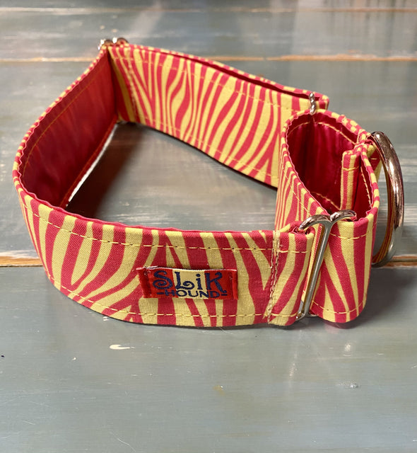 "2"" Wide, 13-23"" long, Martingale, Electric Zebra"