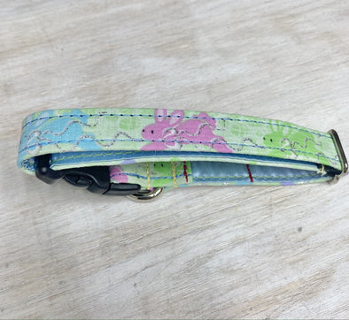 ".75"" Wide, 10-16"" long, plastic buckle, Easter Bunnies"