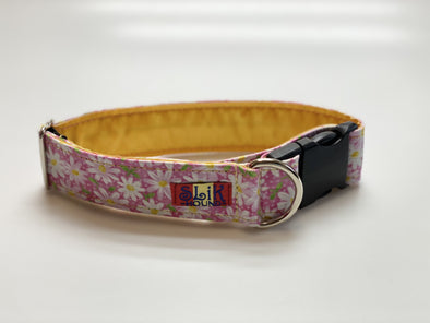 "1.5"" Wide, 13-23"" long, plastic buckle, Pink Blossom"