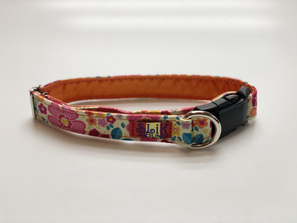 "1"" Wide, 13-23"" long, plastic buckle, Orange Blossom"