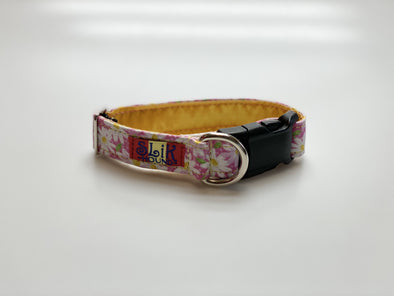 "1"" Wide, 10-16"" long, plastic buckle, Pink Blossom"