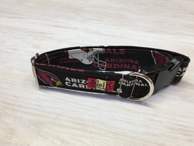 "1.5"" Wide, 13-23"" long, plastic buckle, Cardinals Theme Collar"