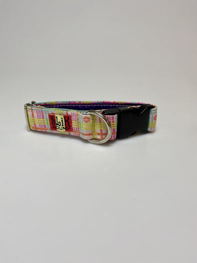 "1"" Wide, 10-16"" long, plastic buckle, Zazzle Plaid"